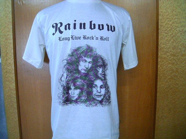 RAINBOW long live rock and roll T SHIRT BEIGE L