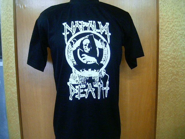 NAPALM DEATH T SHIRT BLACK L