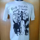 BOB DYLAN planet waves  T SHIRT  BEIGE   L