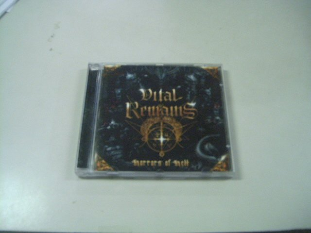 VITAL REMAINS horrors of hell CD 1989 DEATH METAL