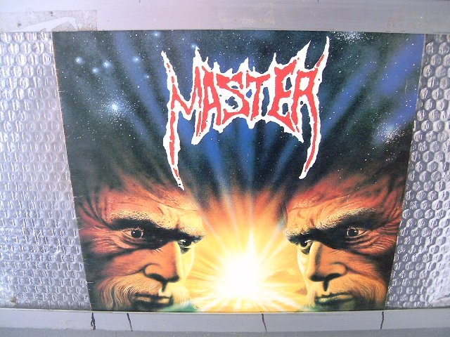 MASTER on the seven day god created...master LP 1993 DEATH METAL
