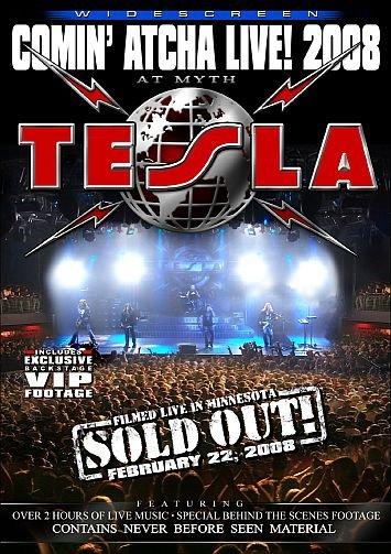 TESLA comin' atcha live! 2008 DVD 2008 HARD ROCK**