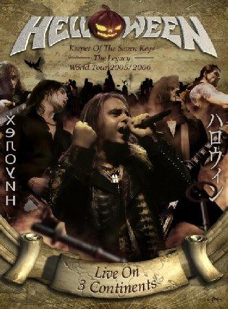 HELLOWEEN live on 3 continents 2DVD 2007 HEAVY METAL