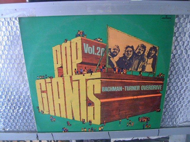 BACHMAN TURNER OVERDRIVE pop giants vol.20 LP 1975 ROCK