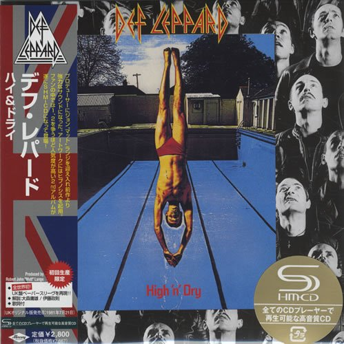 DEF LEPPARD high 'n' dry CD FORMATO MINI VINIL 1981 HARD N' HEAVY