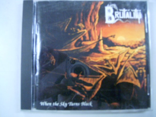 BRUTALITY when the sky turns black CD 1994 DEATH METAL