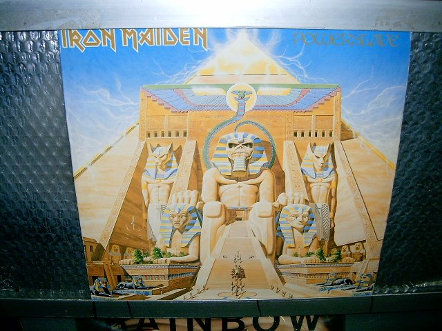 IRON MAIDEN powerslave LP 1984 HEAVY METAL