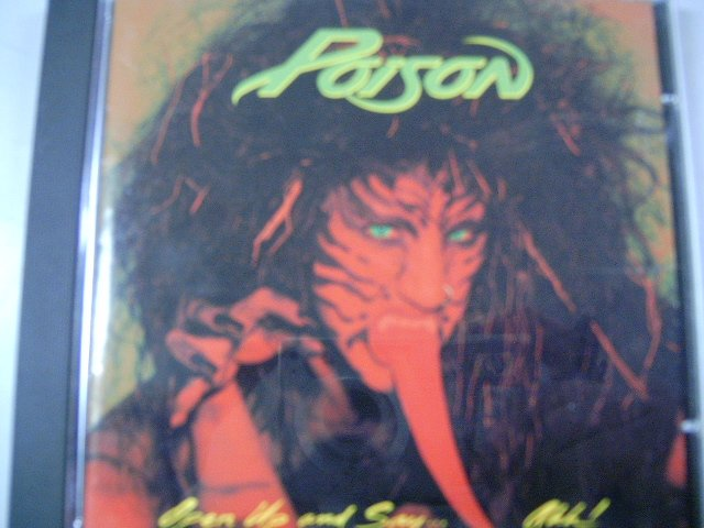 POISON open up and say...ahh! CD 1988 GLAM HARD ROCK