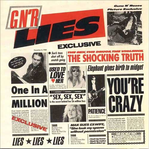 GUNS N'ROSES lies CD 1986 HARD ROCK