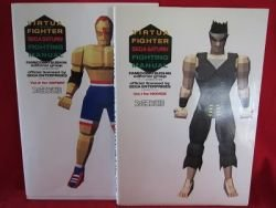 Virtua Fighter fighting manual guide book 2 set / SEGA Saturn, SS