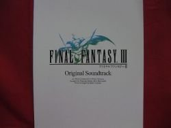 Final Fantasy III 3 Soundtrack Piano Sheet Music Collection Book / NES, DS