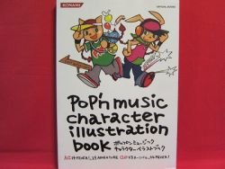 Pop'n Music character illustration book