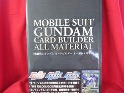 Gundam trading card game builder all material art book w/special card *