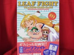 Leaf  Fight trading card game visual guide art book w/card *
