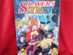 SLAYERS TRY special collection art book #1 w/poster *