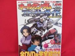 All Gundam story guide art book w/poster