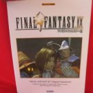 Final Fantasy IX 9 Piano Sheet Music Collection Book *