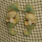 Small Seahorse Wall Hangings (turq/yellow) (set of two)