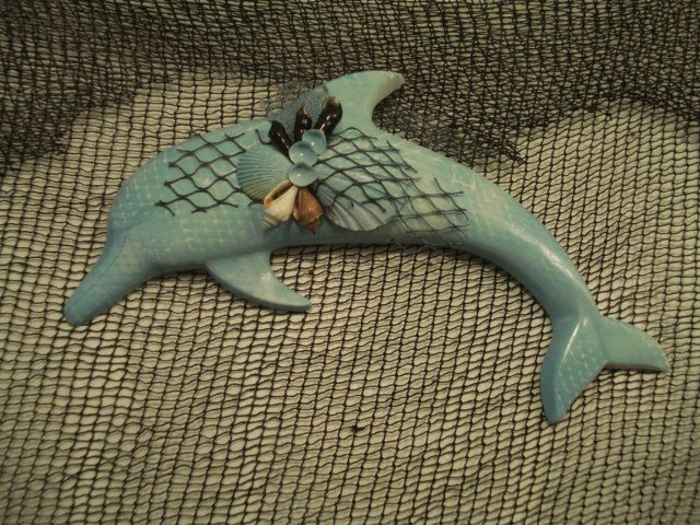 Dolphin Wall Plaque Dark Teal
