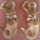 Mermaid Set Wall Plaques Tan/Sand color
