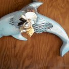 Light Blue Dolphin Wall Plaque