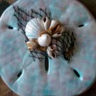 Sand Dollar Plaque Blue w/light pink