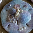 Sand Dollar Plaque Blue/Purple