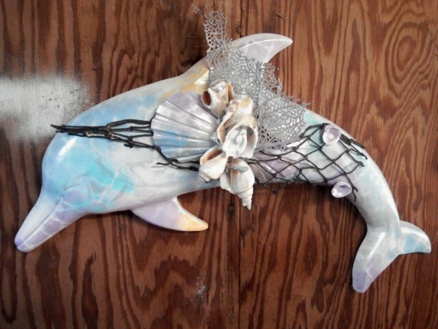 Dolphin Wall Hanging Multi Color Blue