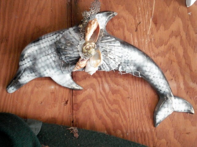 Dolphin Wall Hanging Blcak and White