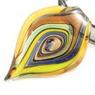 P974 Lampwork Glass Twist Choker Pendant Necklace Best for Gift