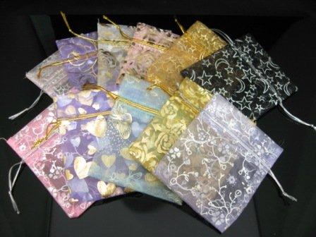 100pcs lot 90*75mm Elegant Assorted Pattern & Colors Gift Bag