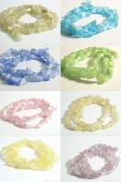 W170F LOT X 10 STRANDS LOOSE CAT'S EYE BEADS MIX COLOR
