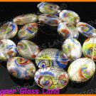 "GQ013 15"" -15*20MM DICHROIC GLASS BEADS ITALIAN FOIL"