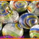 GQ011 LOT 10PCS * 16MM DICHROIC GLASS BEADS ITALIAN