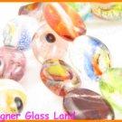 """GQ015 15"""" -10*14MM DICHROIC GLASS BEADS ITALIAN FOIL"""