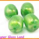 GQ020 20PCS 14*12MM OPALINE GRASS GREEN BEADS
