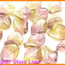 GQ027 LOT 20PCS*21MM LAMPWORK GLASS LEAF BEADS DIY
