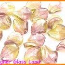 GQ027 LOT 20PCS*21MM LAMPWORK GLASS LEAF BEADS DIY
