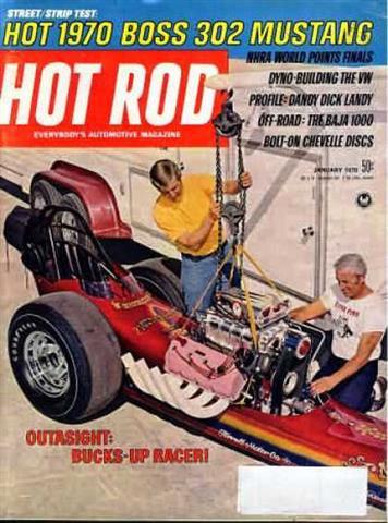 Hot Rod Magazine January 1970