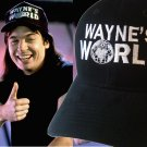 Wayne's World embroidered Black hat Wayne Campbell cap Halloween costume