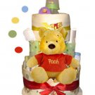 Winnie The Pooh Diaper Cake 3 Tier