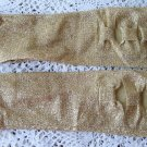 Vintage Golden Glitter Mid Arm Gloves 60's 6 1/2 Perrin