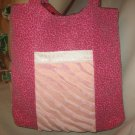 Tote Bag Boho Purse LOTS OF POCKETS Roomy Hobo PINK LEOPARD
