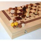 3-in-1 Set: Chess, Backgammon & Checkers