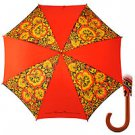 Red Khokhloma Umbrella