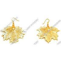 "Earrings ""Sugar Maple Tree Leaf"""