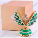 "FABERGE.  Decorative Egg With A Surprise ""Dual Egg, Crowned"" (green)"