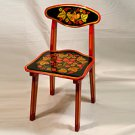 CHILDREN'S CHAIR WITH KHOKHLOMA PAINTING