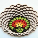 Round-Edged Wooden Basket Fruit Bowl