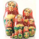 Visiting Fairytales Matryoshka: Kolobok (Roly-Poly)